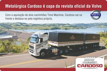 Metalúrgica Cardoso é capa da revista oficial da Volvo